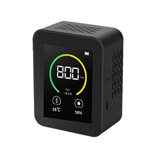 DAIMANPU medidor de co2 Detector de co2 Sensor Contenido de concentración de Gas Pantalla a Color TFT Probador de Aire Inteligente Monitor de Calidad del Aire 400-5000PPM