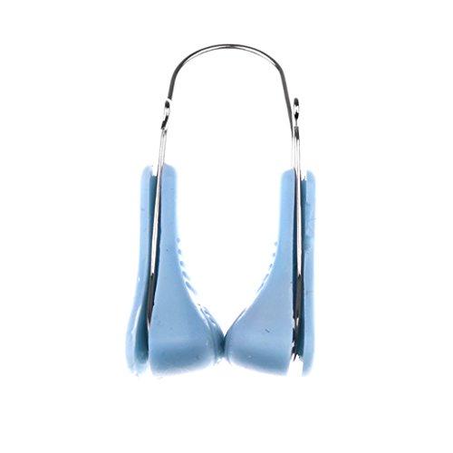 MagiDeal Pince-nez Aide à Redessiner et Soulever Pont de Nez Lifting Façonneuse de Nez Outil Soin Beauté de Nez en Silicone Acier - Bleu