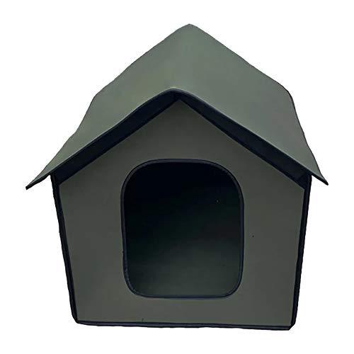 Wivarra Casa Impermeable Al Aire Libre de Animal DoméStico para Gato y Perro Tienda Impermeable Al Aire Libre Chalet de Gato y Perro