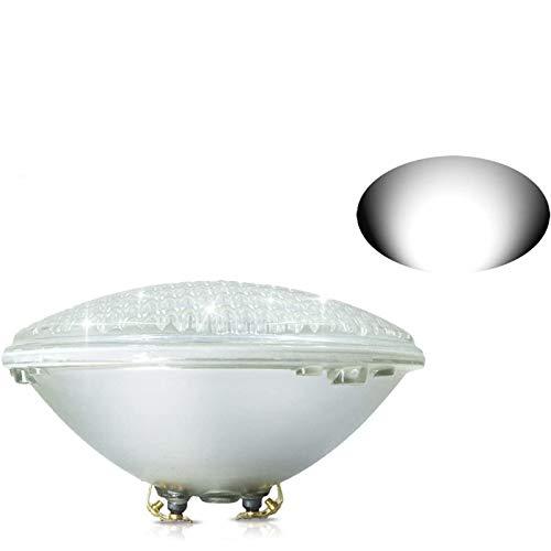 COOLWEST PAR56 Luces de la piscina LED 36W Blanco 6000K Iluminación de piscinas 12V AC/DC Reemplazar bombillas halógenas de 300W, Luminarias subacuáticas IP68 impermeables