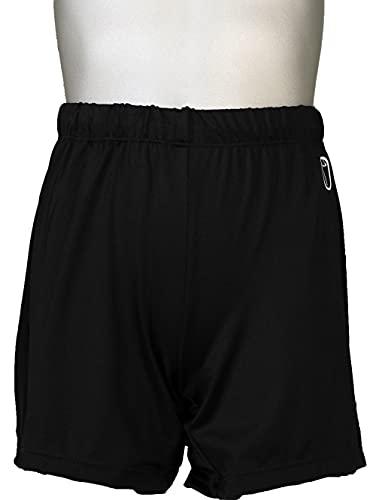 Snowflake Designs Black Boys and Mens Gymnastics Longer Shorts (Child Large)