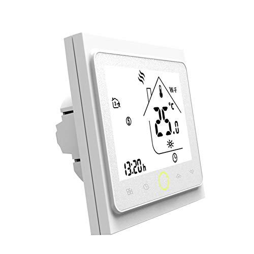 Smart Thermostat Digital Thermostat WiFi APP Control Voice Control 5A Raumthermostat Wandheizung, Warmwasserbereitung,Kompatibel mit Alexa/Google für zu Hause