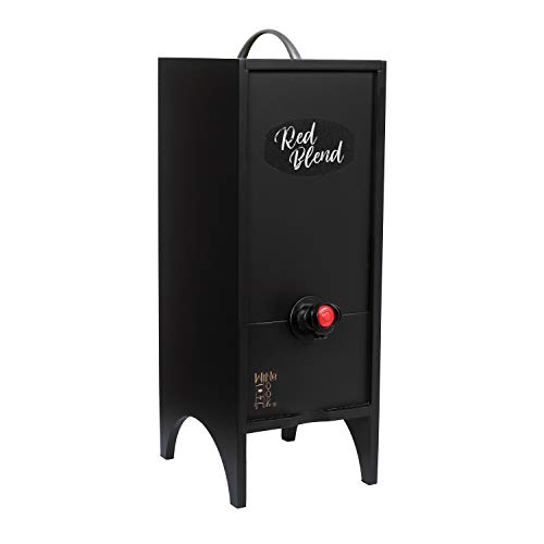 Wine Nook Little Nook Decorative Box Wine Dispenser, 3 Liter, Black, Chalk Included