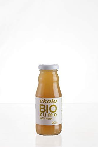 Ekolo Zumo de Pera Ecológico, 100% Exprimido, 12 Botellas x 200 ml, 2400 ml