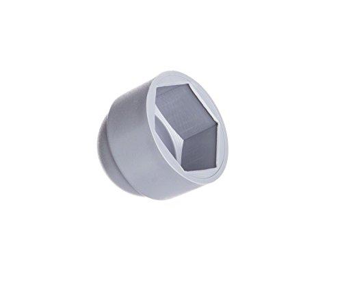Schutzkappen für Schrauben M12 (für Schlüssel 19) Grau | 25 Stück | Schraubenkappen Stopfen Rohrkappen