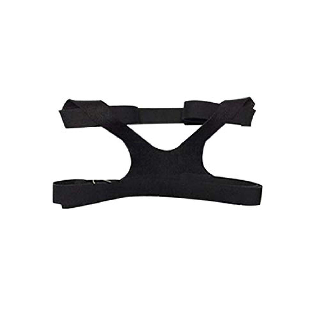 ブッシュ性的不潔ユニバーサルデザインヘッドギアコンフォートジェルフルマスク安全な環境での交換用CPAPヘッドバンドなしPHILPS - ブラック