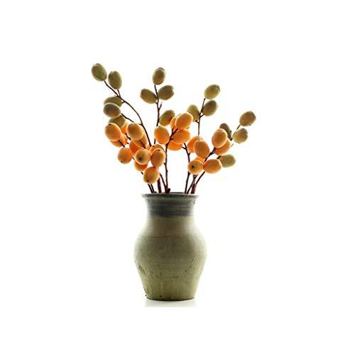 LZL Simulación de Dos Tenedores, Ramas frutales, Florales, Silvestres, Naturales, hogar, decoración Suave, arreglos Florales.