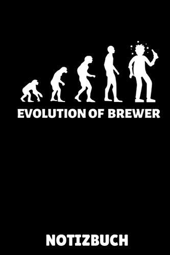 EVOLUTION OF BREWER NOTIZBUCH: A5 Notizbuch LINIERT Craft Bier | Bier selbst brauen | Bierbrauen Buch | Brauerei | Geschenkidee für Männer | Biertrinken | Anfänger | Bierbuch
