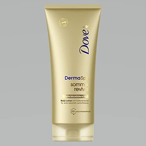 Dove DermaSpa Body Lotion für helle bis mittlere Hauttypen Sommer Revival mit Cell-Moisturisers (1 x 200 ml)