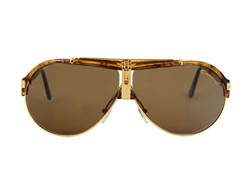 Derapage Gafas de Sol Vintage de hombre- Gafas años 90 - Dorada, estilo aviador.