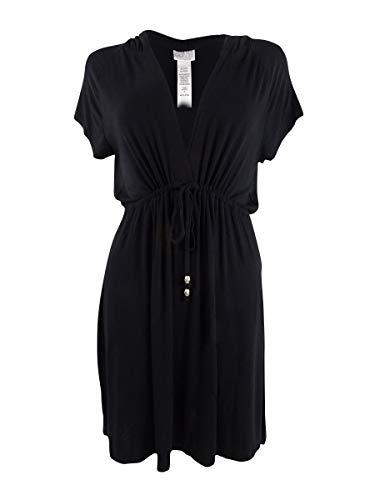 Dotti Plus Size Paradise Solids Dress Cover-Up Black 2X