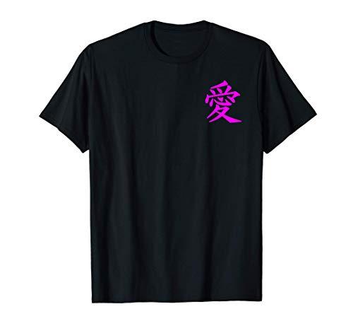 Chinesische Zeichen Liebe Peace Symbol Brusttasche T-Shirt