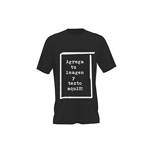 Detalles Creativos Camisetas Personalizables - T-Shirt Personalizadas .Tu Foto ó diseño en una Camiseta (Graphite, M)