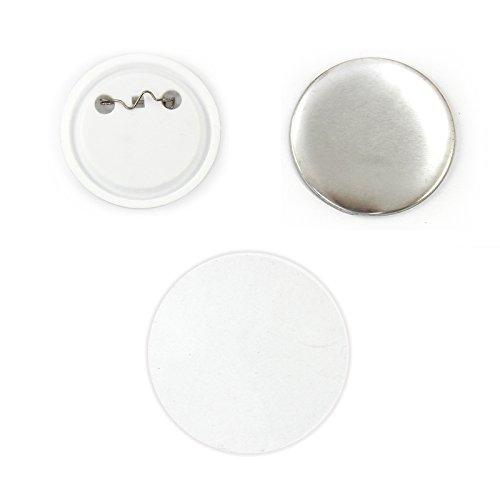 PixMax 37mm Buttons Buttonrohlinge Anstecker Buttons Bedrucken 100 Stück für Buttomnaschine Buttonpresse Badge-Maker