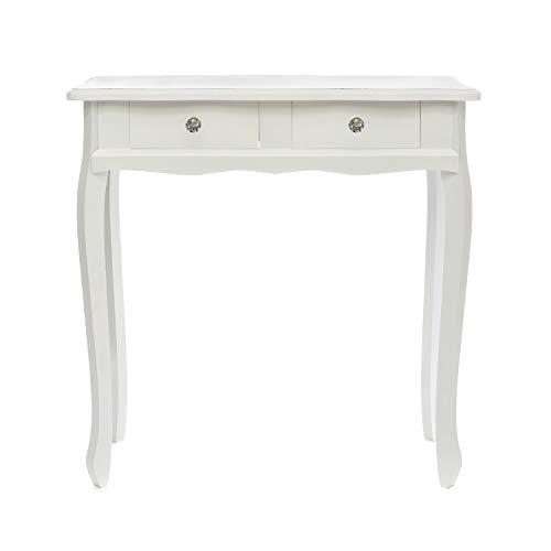 Tavolo consolle in legno, da 77X32X79 cm Bianco