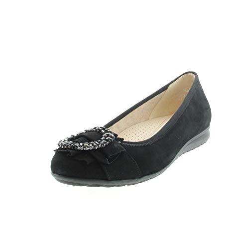 Gabor Shoes Damen Comfort Sport Geschlossene Ballerinas, Schwarz (Schwarz 47), 39 EU