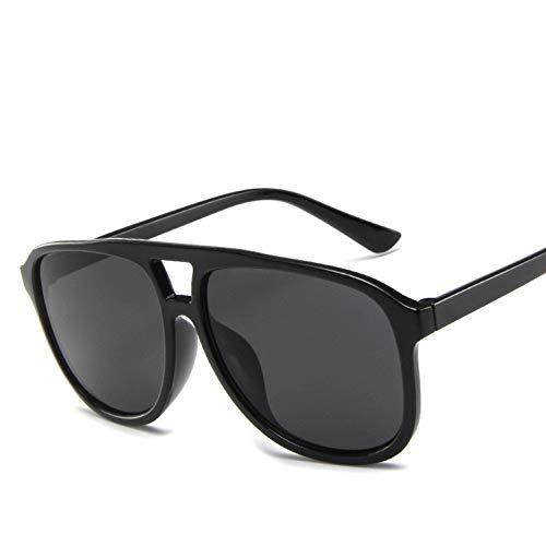 Liuao 2019 Männer Sonnenbrillen Bunte Sonnenbrillen Gelee Farbe Doppelstrahl Sonnenbrillen Trend Sonnenbrille Frauen,Black