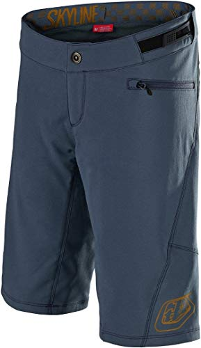 Troy Lee Designs Skyline Solid w/Liner Women's Off-Road BMX Cycling Shorts – Slate/Bourbon/X-Large