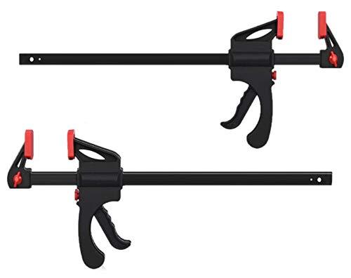 KAHEIGN 2Pcs Quick Grip Klemmen Schnellgriffklemmen, 12-Zoll Ratschenstangenklemmen Einhandstangenklemme für Holz Schnelle und einfache Klemmung