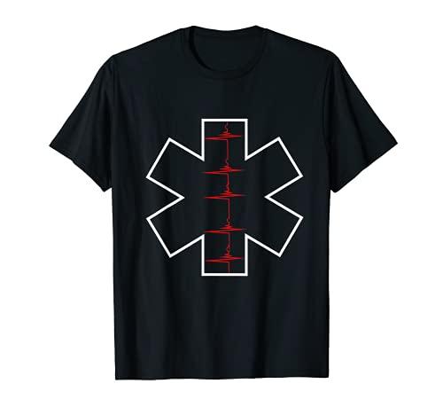Star Of Life Herzschlag EKG Puls Sanitäter Rettungsdienst T-Shirt