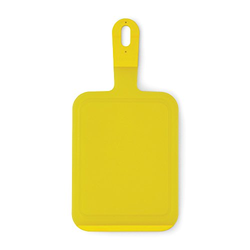 Brabantia Tasty Colours Tabla para cortar, pequeña, Plástico, Amarillo, 18x1x36 cm