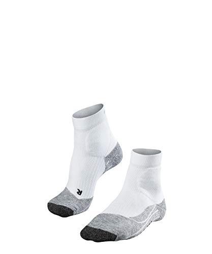 Falke TE2 Short - Calcetines de tenis para mujer, color Blanco (Weiß), talla 37/38 EU