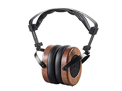 MONOPRICE Monolith M565 Over Ear Planar Magnetic Headphones - Black/Wood With 66mm Driver, Open Back Design, Removable Comfort Earpads For Studio/Professional