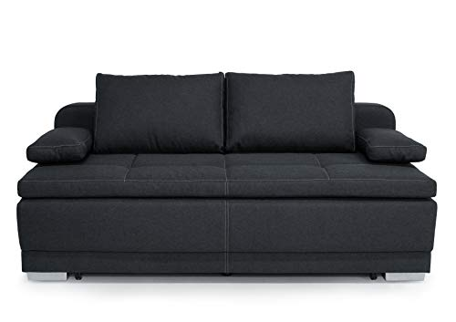 Collection AB B-famous Bonn Schlafsofa Boxspringsofa mit Bettkasten, Strukturstoff anthrazit,...