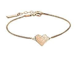 LIEBESKIND LJ-0330-B-17 Damen Armband Herz Edelstahl Rose 20 cm