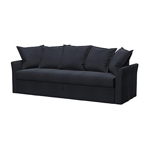 Soferia - IKEA HOLMSUND Funda para sofá Cama de 3 plazas, Classic Steel