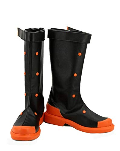 My Hero Academia Katsuki bakugo Cosplay zapatos Botas Custom Made, Negro