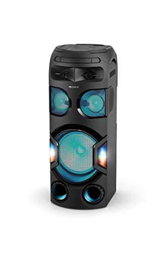 Sony MHC-V72D Bluetooth Party Lautsprecher(360 Grad Party Sound, Lautsprecherbeleuchtung, One Box Hifi Music System, kompatibel mit Party Chain) schwarz