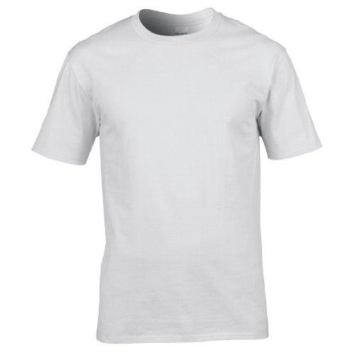 Gildan Premium T-Shirt für Männer (L) (Weiß) L,Weiß