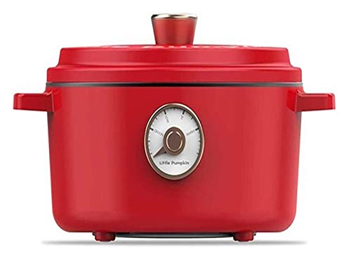 X-LSWAB Beste Elektro Hot Pot Slow Cooker Non-Stick elektrische Bratpfanne Multifunktionskochtopf Küchengeräte for Glas wohlschmeckend Familie Küche (Color : A)