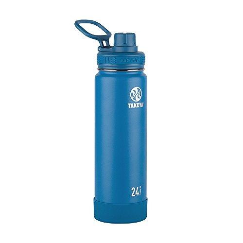 Takeya isolierte Wasserflasche mit Ausgussdeckel 24 oz saphir
