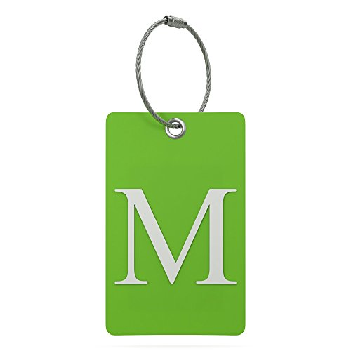 Luggage Tag Initial – Fully Bendable Tag w/Stainless Steel Loop (Letter M)