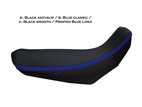 Housse de Selle XT660X Noir-Bleu avec Logos