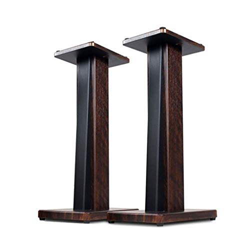 Buy Discount BXYXJ 23.4 Inch Bookshelf Speaker Stand Surround Sound Home Theater, Solid Wood Material, with Rubber Feet and EVA Feet, a Pair (Color : C1)
