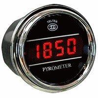 Pyrometer Gauge Exhaust Gas Temperature Sensor for Kenworth 2006+ - Gauge Diameter - 2 1/16' - Bezel: Chrome - LED Color: Red