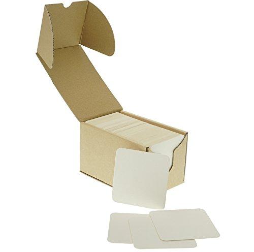 ZEZAZU 9 cm Quadratisch Schwergewicht Zellstoffplatte Saugfähig Untersetzer für Getränke (125 Stück), Bierdeckel, Handwerksprojekt, Zen Fliesen und Mini Kunst Bord