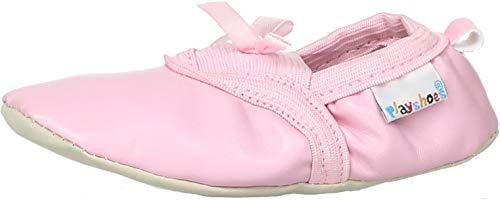 Playshoes Jungen Mädchen, Balettschlã¤ppchen Schleife Gymnastikschuhe, Pink Original 9, 29 EU