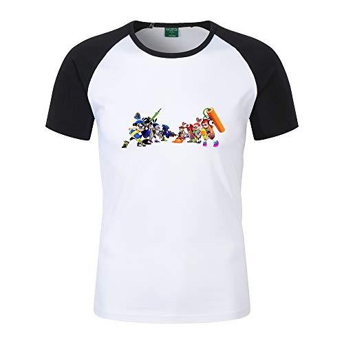 Splatoon Camiseta Buena relación Calidad-Precio Estilo Simple Hielo Fresco Algodón Camiseta de Manga Corta Algodón Clase Ropa Personalizada Unisex (Color : Black03, Size : L)