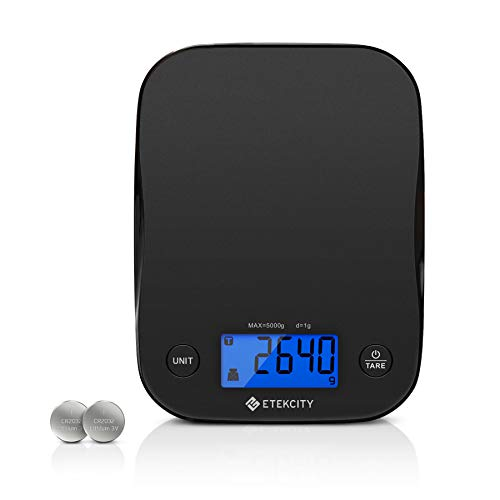 Etekcity Food Kitchen Scale, Digital Weight Grams and Oz for Cooking, Baking, Meal Prep, and Diet, Small, Black