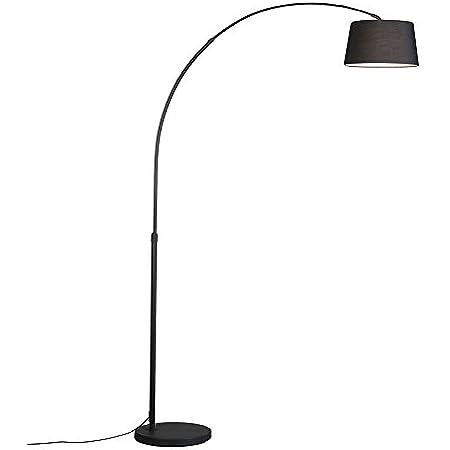 QAZQA arc - Lampe arquée Moderne - 1 lumière - H 1700 mm - Noir - Moderne - Éclairage intérieur - Salon