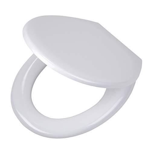 Tiger Toilettensitz Pasadena mit Absenkautomatik und Easy-Clean-Funktion, Farbe: Weiß, Edelstahlbefestigung, 45x 37.3x 5.7cm