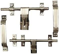 "Nitin Trading Company Sheel Fancy Door Kit Aldrop 8"", Latch 8"", Handle - 2, Total 10 Items"