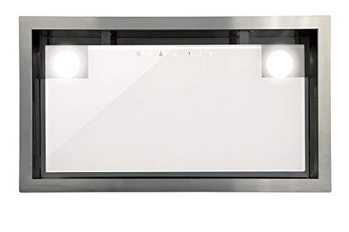 Lüfterbaustein Cata Edelstahl Weißgas für 90cm Schrank/Dunstabzugshaube mit TouchControl Steuerung/Einbaulüfter mit 5 Stufen/Abzugshaube mit ECO LED-Beleuchtung/Timer/Ablufthaube/Umlufthaube