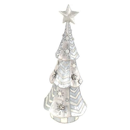 MacKenzie-Childs Capiz Silver Snowfall Tabletop Christmas Tree, Holiday Decorations for Home, Medium