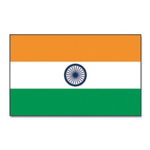 Qualitäts Fahne Flagge Indien 90 x 150 cm mit verstärktem Hissband