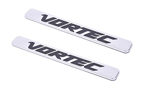 2x OEM 5.3L VORTEC Emblems HOOD Engine Badges Silverado Z71 GMC Sierra Black BU